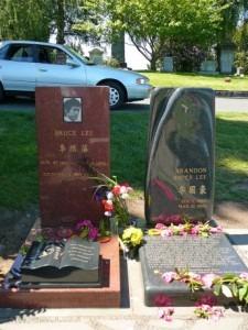 Bruce Lee and Brandon Lee - New Headstones