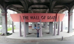 Dale Chumbley at the Wall of Death in Seattle