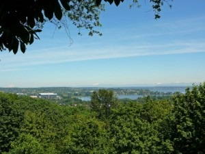 """View from """"my"""" Bench at Boren Park"""